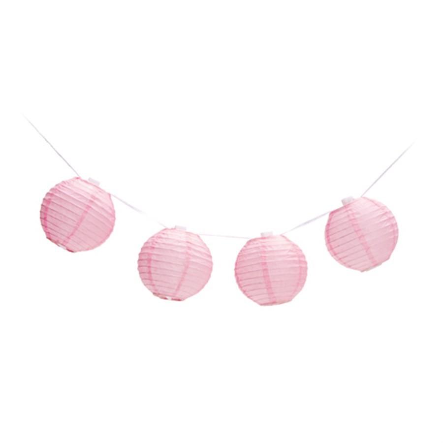 Varalzinho de Globos Rosa Decorativo