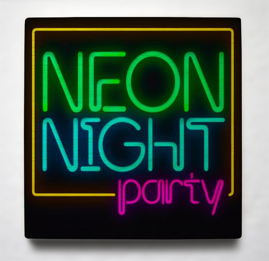 Quadro 19cm x 19cm NEON NIGHT