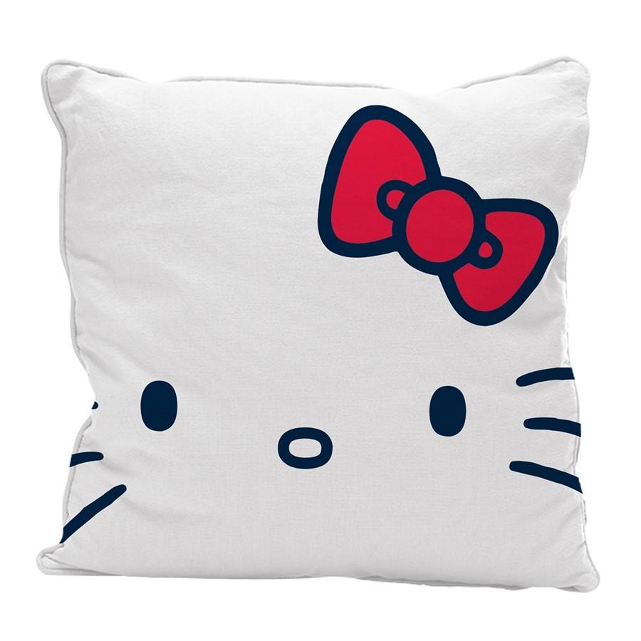 Capa de almofada branca Hello Kitty