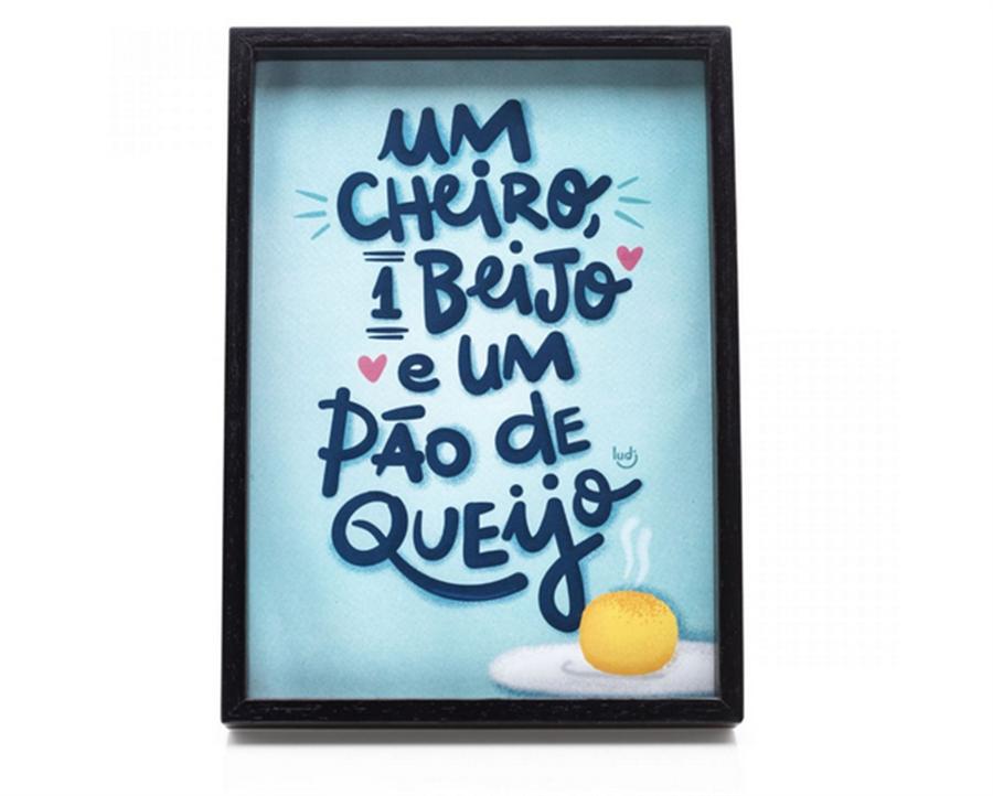 Quadrinho Mensagens Beijo Pão de Queijo