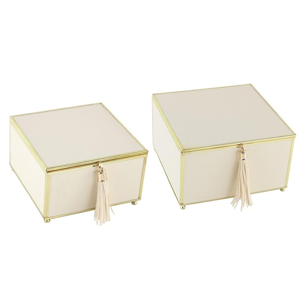 Caixa Decorativa Branca Quadrada