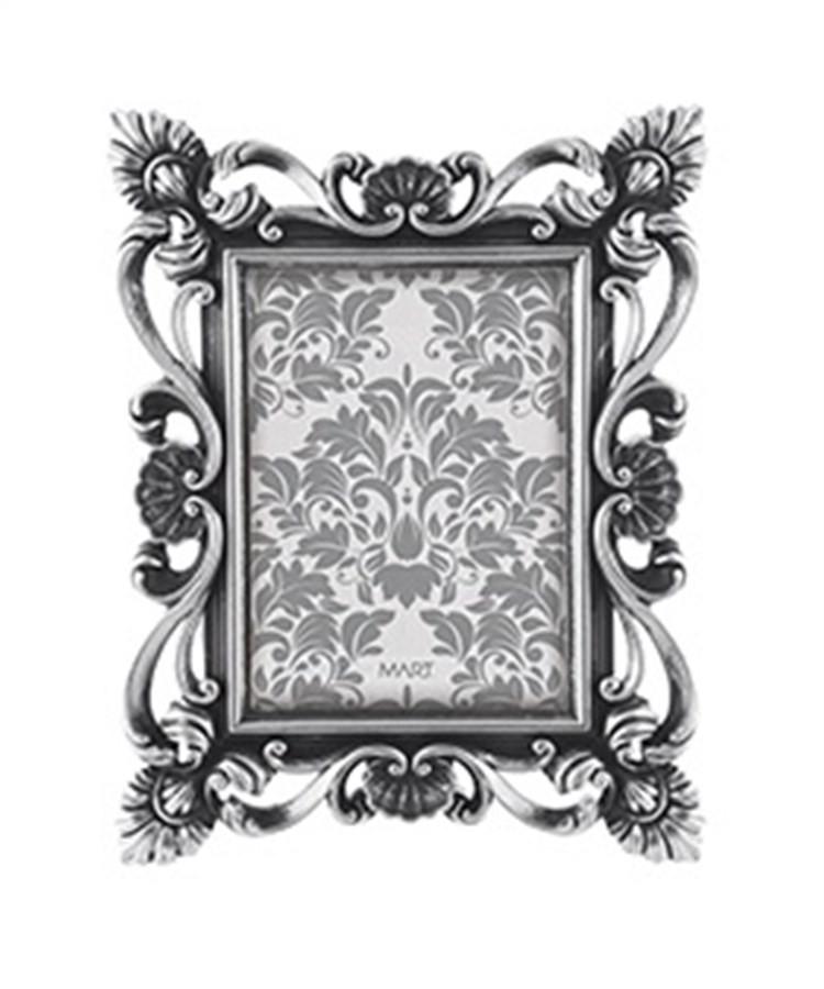 Porta Retrato Vintage Prata 13x18cm