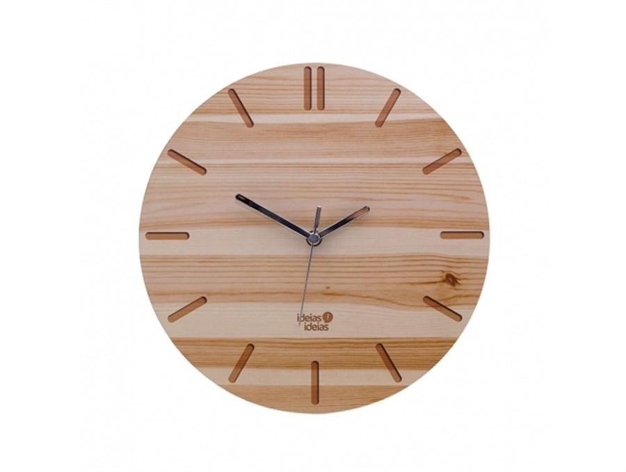 Relógio de Parede Minimal Wood