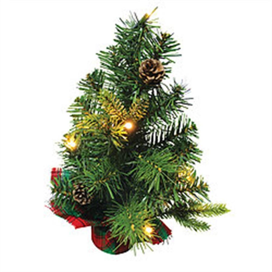 Árvore de Natal musical iluminada 30cm