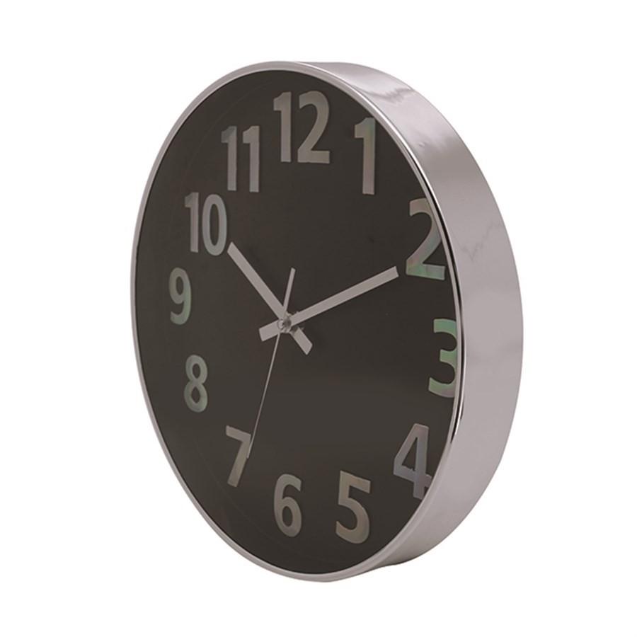 Relógio de Parede 25cm Prata