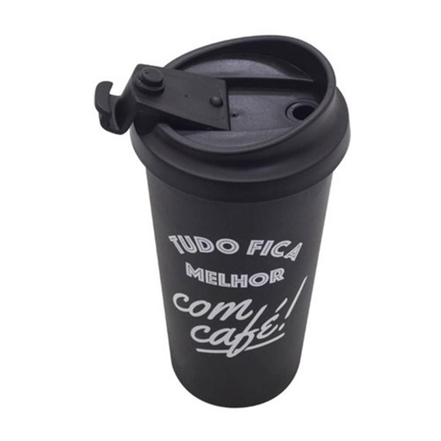 Copo Viagem Tudo Fica Melhor com Café