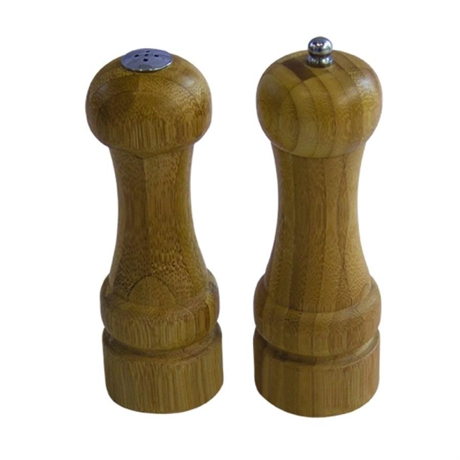 Conjunto Moedor de Pimenta e Saleiro Bamboo