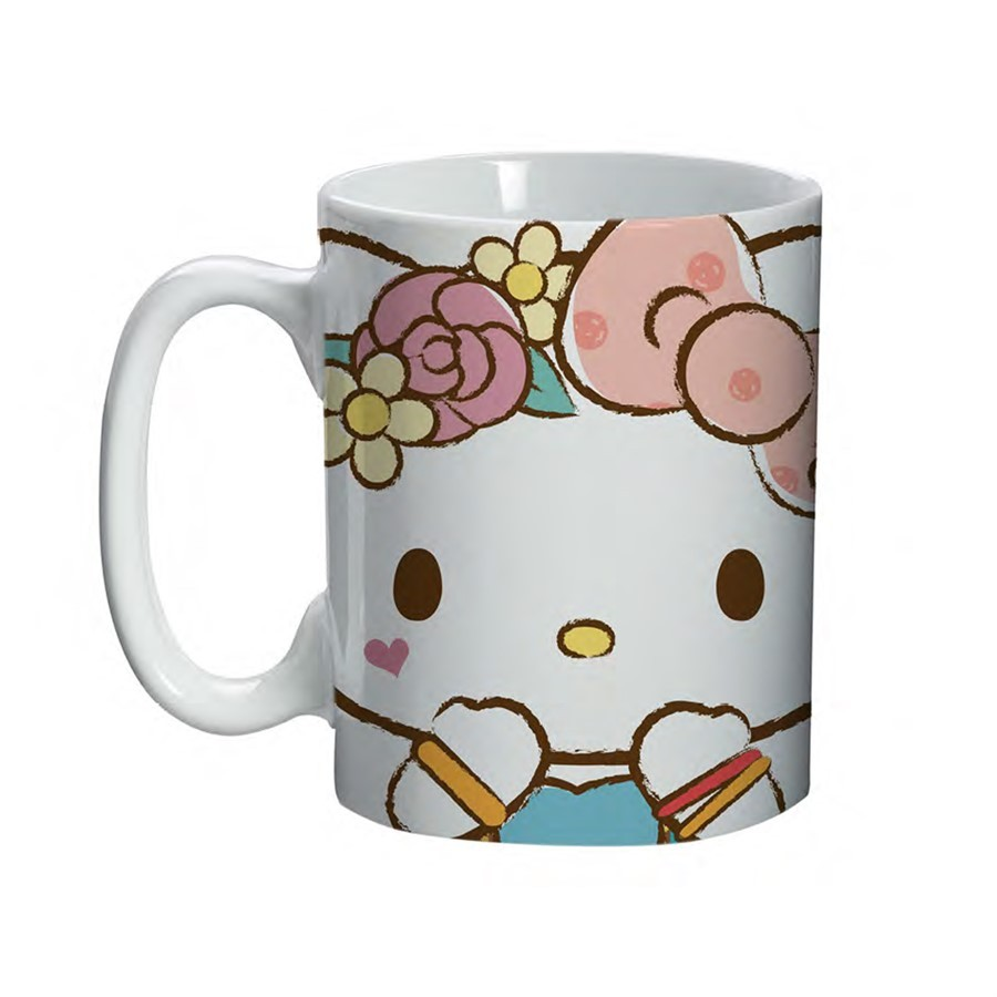 Mini Caneca Hello Kitty 135ml Rosa