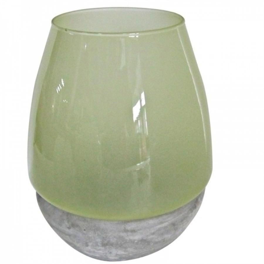 Castiçal de Porcelana Verde