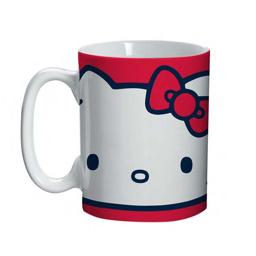 Mini Caneca Hello Kitty 135ml Vermelho