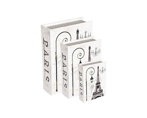 Caixa Livro Paris Torre Eiffel