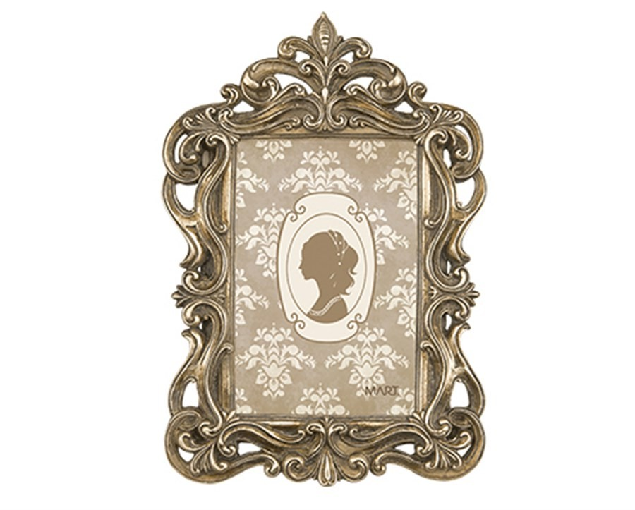 Porta Retrato Antique Champagne 10x15cm