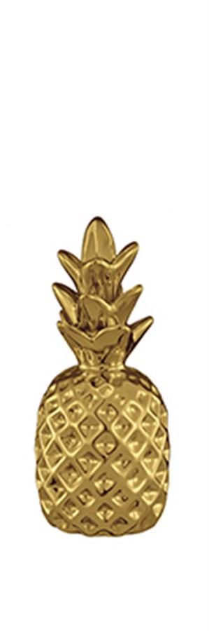 Abacaxi Dourado em Cerâmica  3 Tamanhos