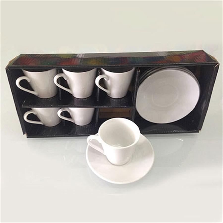 Jogo de Xícaras para Café Porcelana 6pçs