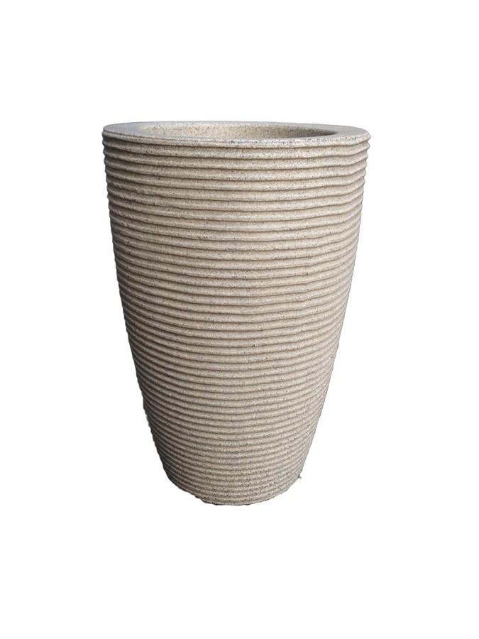 Vaso Cone Cinza 45cm