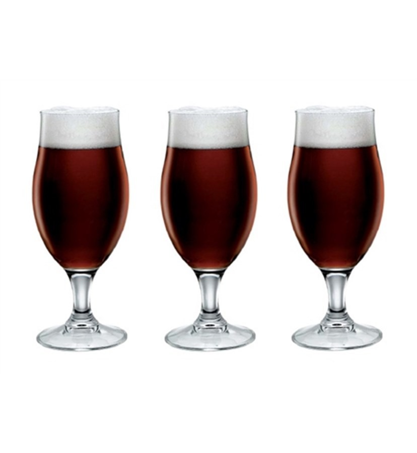 Jogo 3 Taças de Cerveja Vidro 390ml