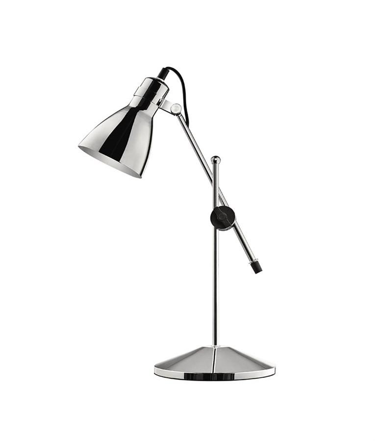 Luminária de Mesa Articulada Prata 51cm