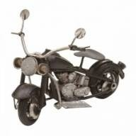 Mini Motocicleta de Metal Decorativa
