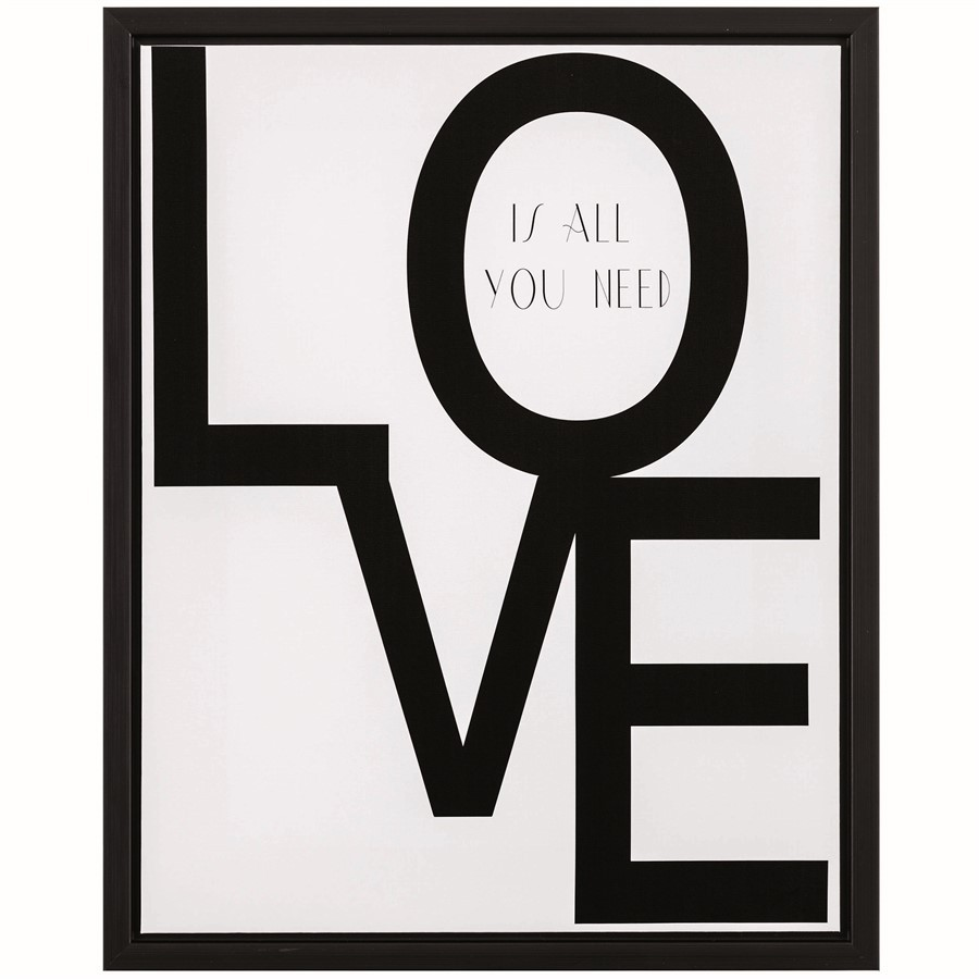 Quadro Love Is All You Need 50x40
