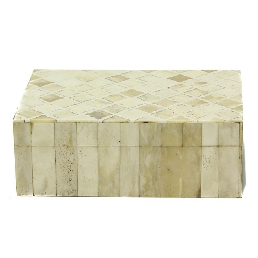 Caixa Osso Marfim 13x18cm