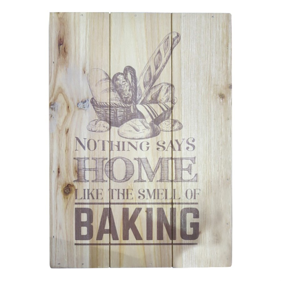 """Quadro madeira""""Home baking"""""""