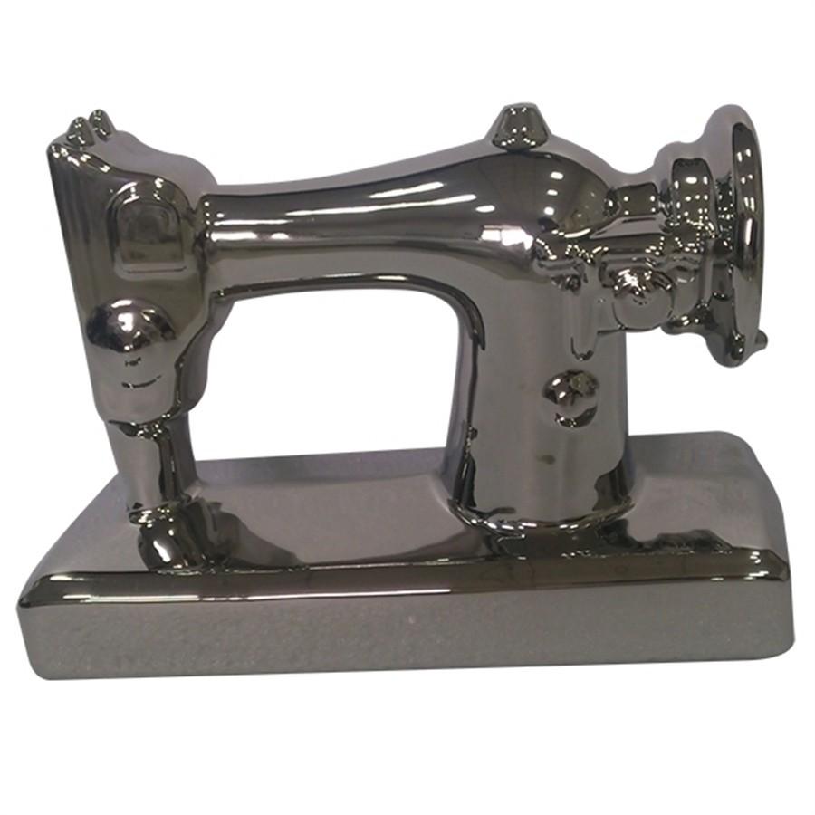 Máquina de Costura Cerâmica Prata Grande
