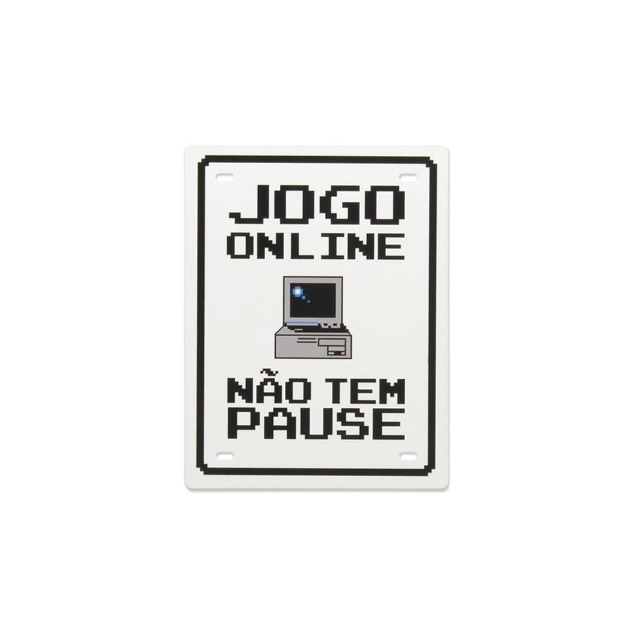 Plaquinha Jogo Online