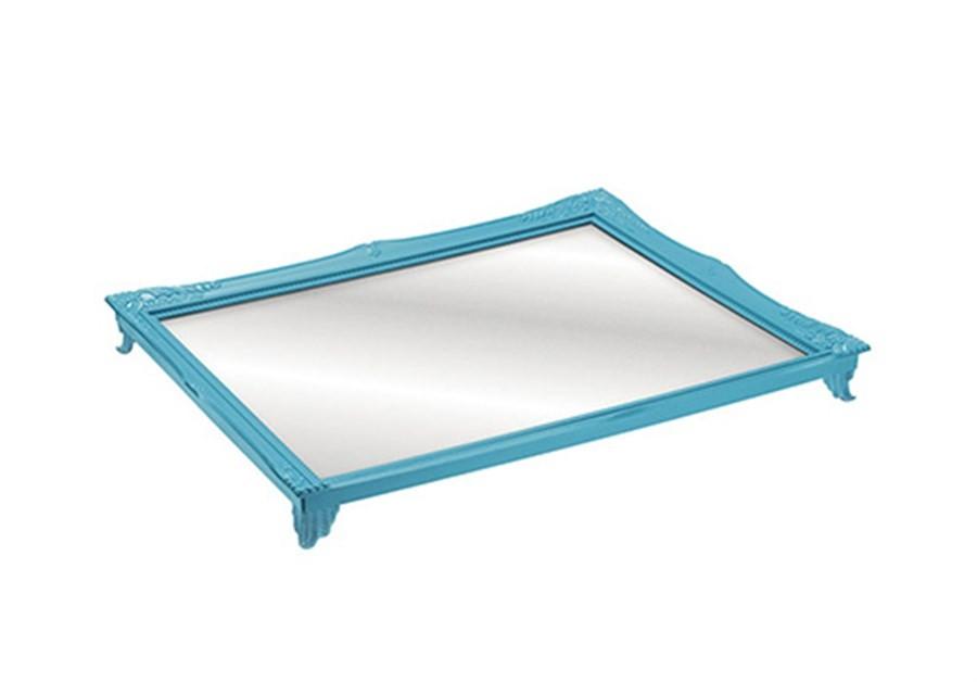 Bandeja Espelhada Rococó Azul