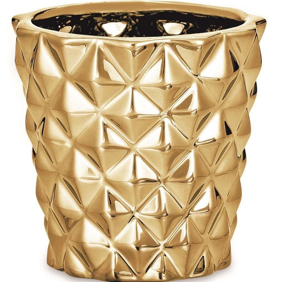 Cachepot Dourado em Cerâmica lll 7x8cm