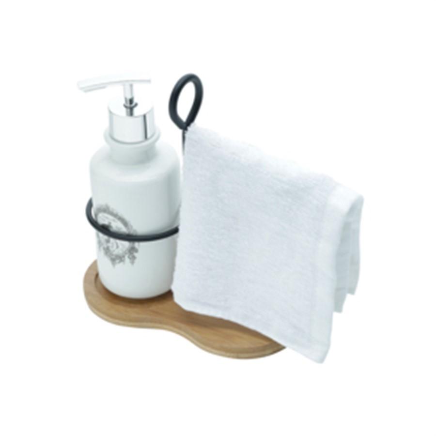 Kit Banheiro C/Suporte Branco