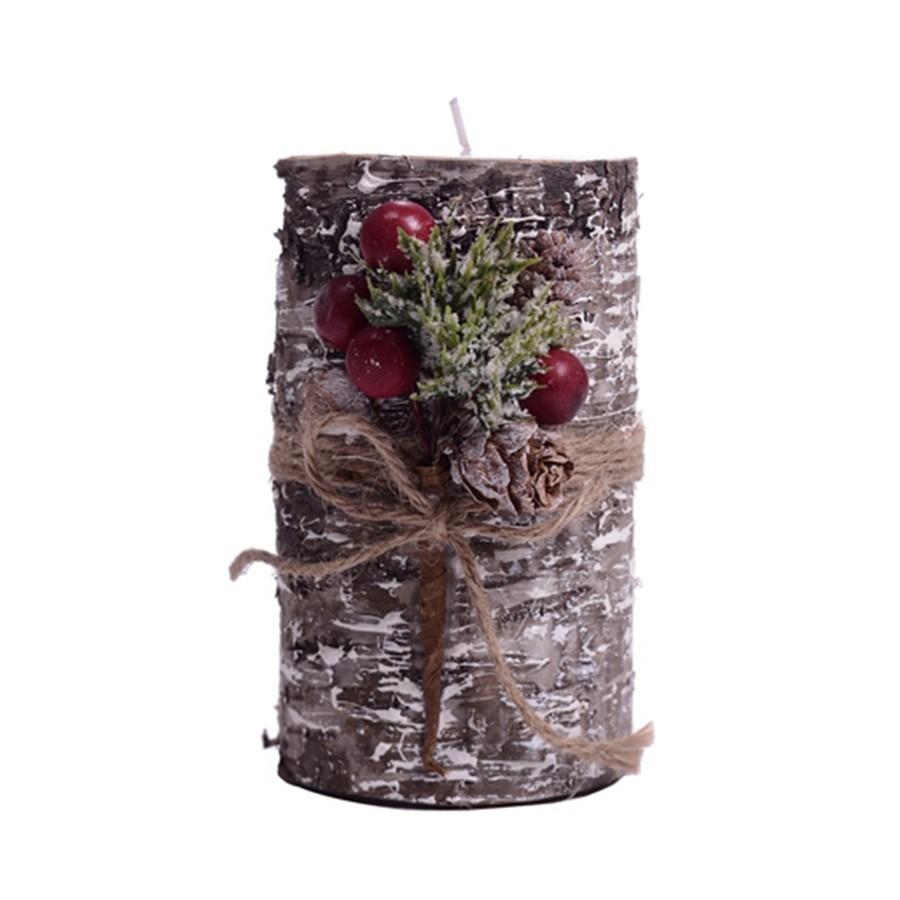 Vela Decorativa Rosa de Natal 8x12cm