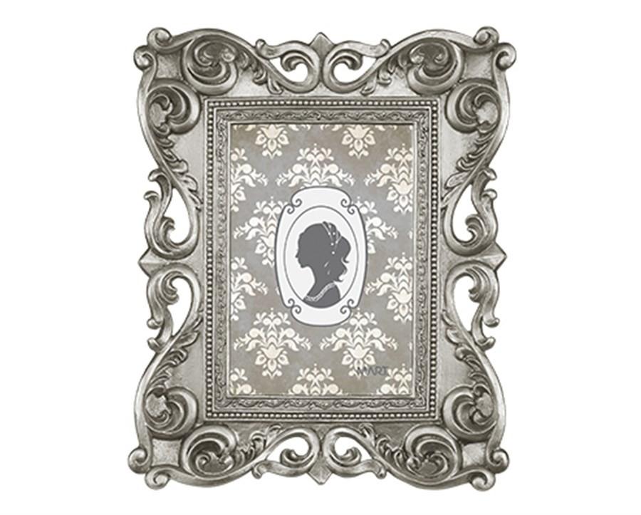 Porta Retrato Antique Prata 10x15cm