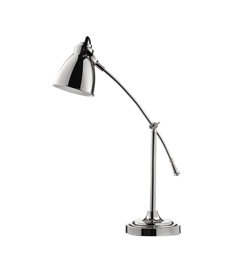 Luminária de Mesa Articulada Prata 68cm