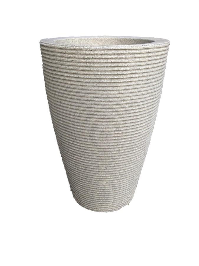 Vaso Cone Cinza 55cm