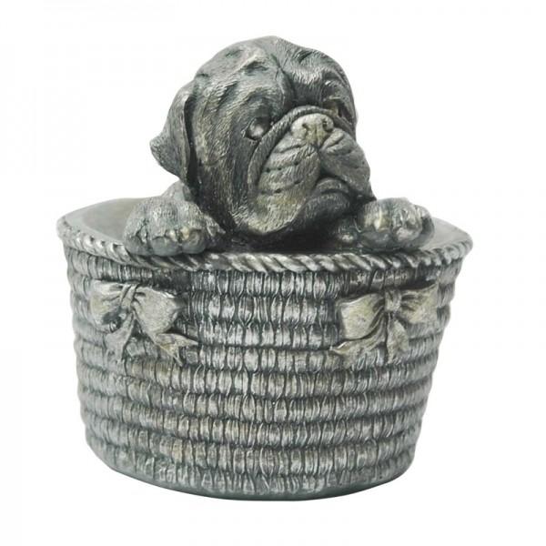 Cachorro Decorativo Cesta e Laços