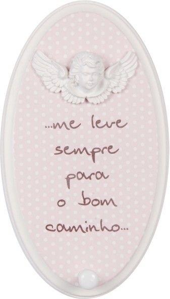 Cabideiro Anjo Rosa