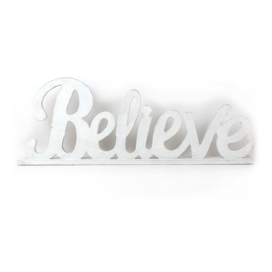 Placa Believe 47cm