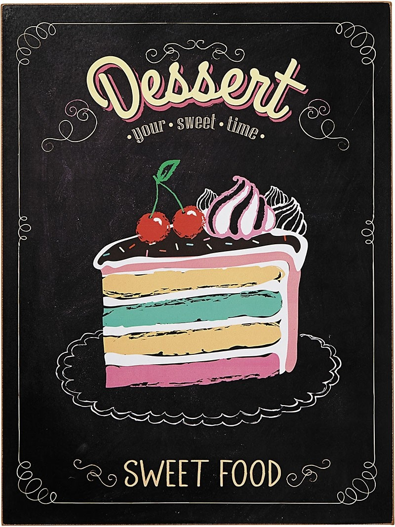 Placa Decorativa Dessert