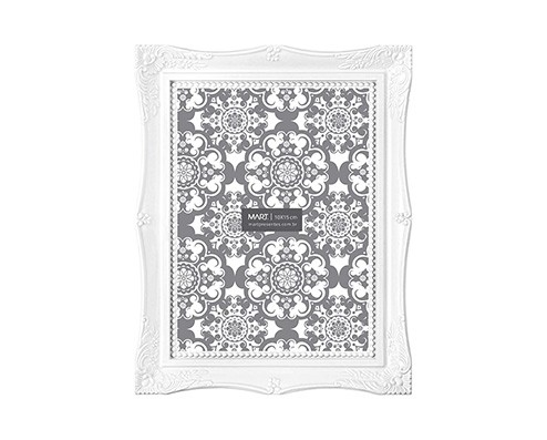 Porta Retrato Retrô Branco 15x20cm
