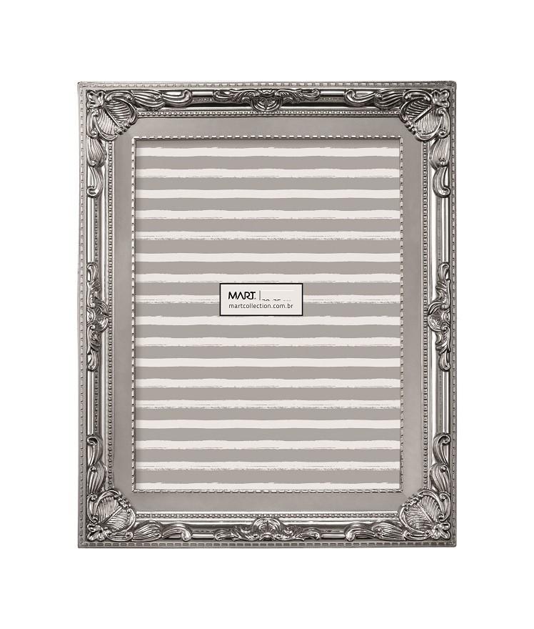 Porta Retrato Retrô Prata 10x15cm