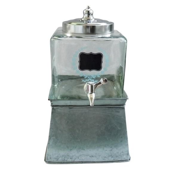 Suqueira de Vidro com Suporte de Metal 5L