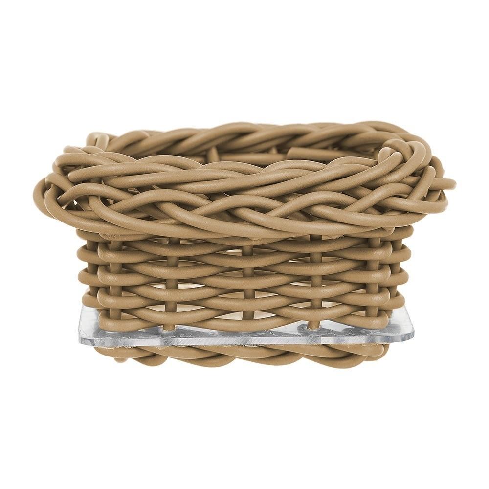 Porta Adoçante  em bambu com Ferro Caqui