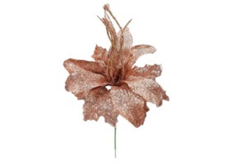 Lírio rose gliter 24cm