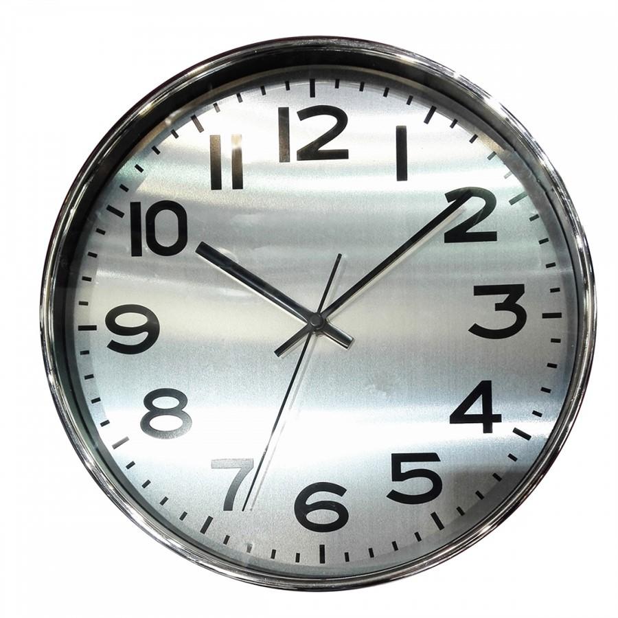 Relógio de Parede  Cromado 25CM X 4CM