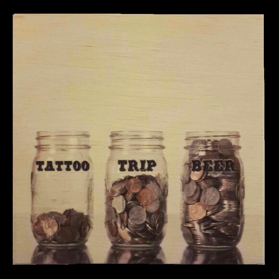 Quadro MDF Tattoo Trip Beer