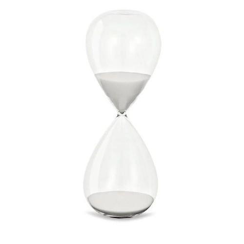 Ampulheta de Vidro Branca