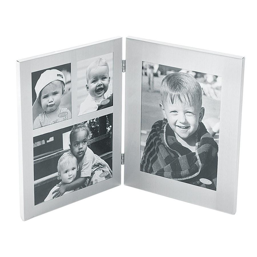 Porta Retrato Aluminium Flip - 3 Fotos