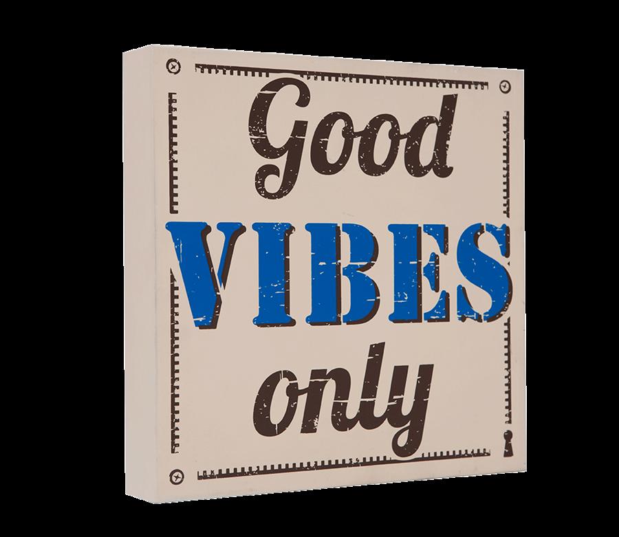 Quadro Bloco Good Vibes Only