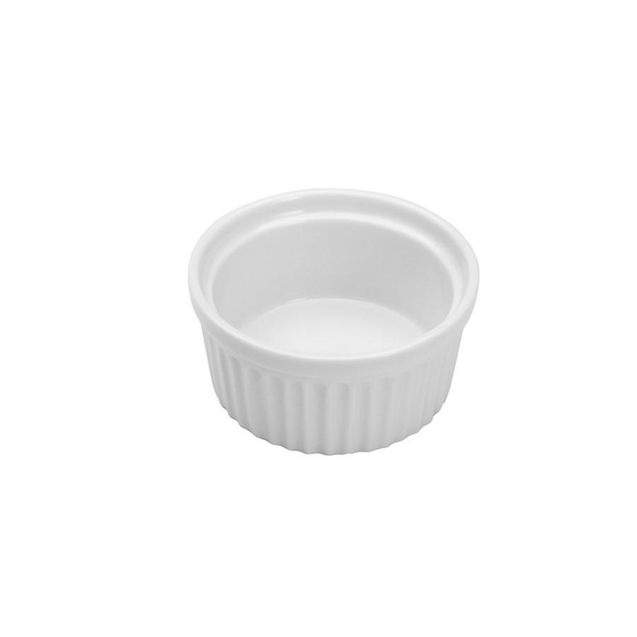 Cj Ramequins Porcelana Branco - 4pcs 8x4cm