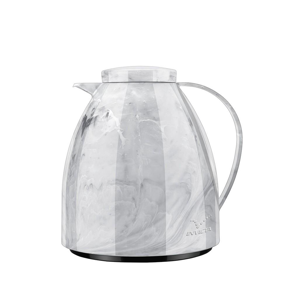 Bule Viena, Invicta, Térmica Marble Branca 400 ml